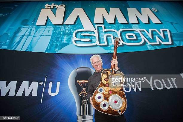 Richard Boak of C.F. Martin & Co. Poses with the two millionth Martin Guitar ever made at The 2017 NAMM Show Media Preview Day on January 18, 2017 in...
