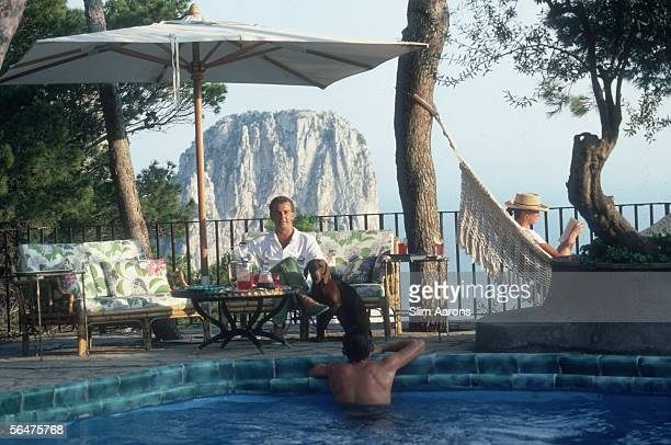 Richard Bolliger owner of Bolliger Transport Worldwide holidaying on Capri September 1989