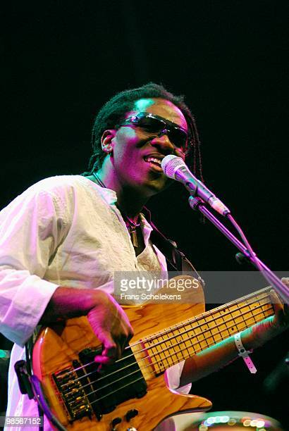 Richard Bona performs live on stage at Ahoy in Rotterdam, Netherlands as part of the North Sea Jazz Festival on July 15 2006