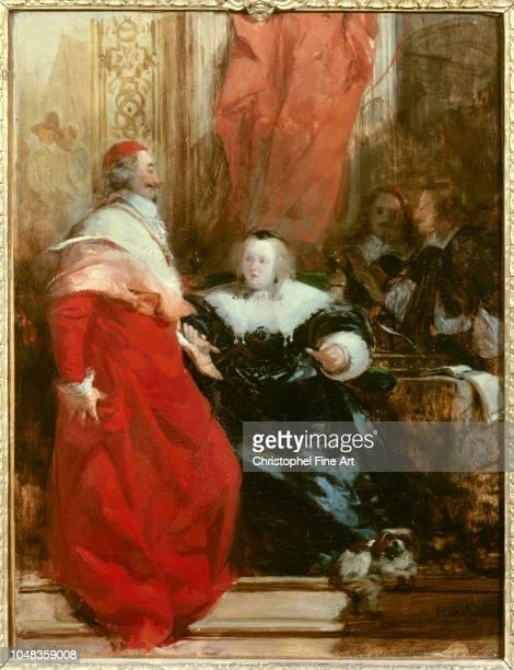 Richard Bonington Anne of Austria Queen of France with Cardinal Mazarin 1824 Oil on Canvas 035 x 027 m Paris Louvre Museum