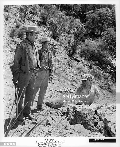 Richard Boone And Peter Lazer in a scene from the film 'Hombre' 1967