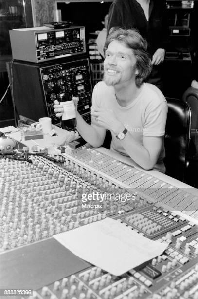 Richard Branson 28 year old mastermind behind Virgin Music company Seen here in his recording studio The Townhouse in West London In this set of 21...