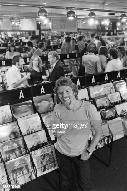 Richard Branson 28 year old mastermind behind Virgin Music company Seen here in his Virgin Mega Store Record Shop In this set of 21 pictures Richard...