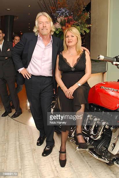 Richard Branson and his wife Joan Branson at the Nobu Berkeley in London, United Kingdom.