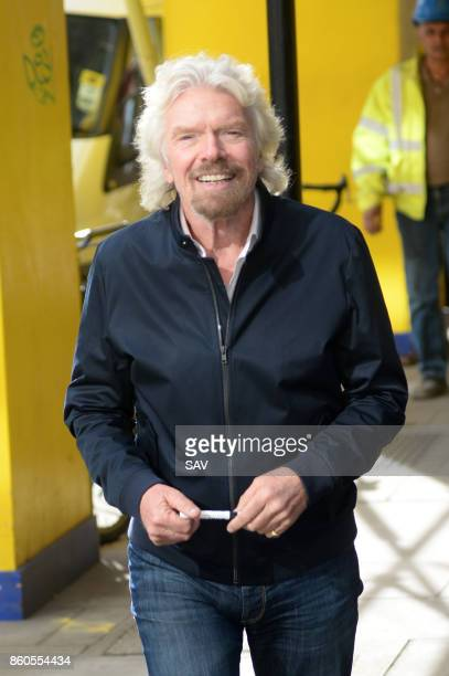 Richard Branson arrives at The Kiss FM Studios on October 12 2017 in London England