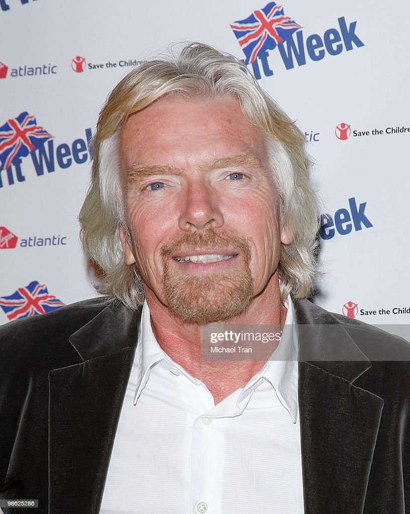 Richard Branson arrives to the BritWeek 2010 charity event: 'Save The Children And Virgin Unite' held at the Beverly Wilshire hotel on April 22, 2010 in Beverly Hills, California.