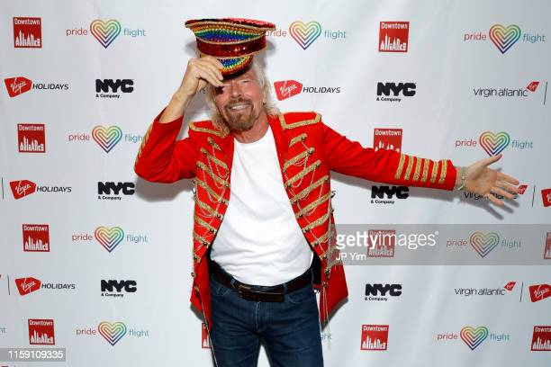 Richard Branson attends the Virgin Atlantic and Virgin Holidays World Pride Celebration at ASPIRE at One World Observatory on June 29, 2019 in New...