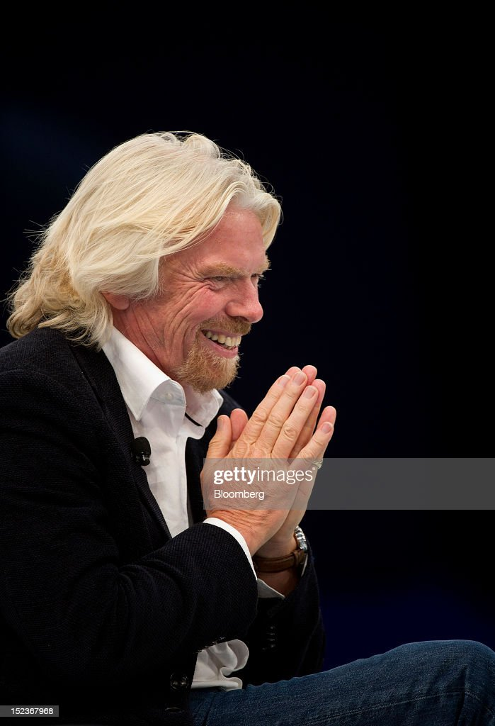 Richard Branson, chairman and founder of Virgin Group Ltd., speaks during a keynote address at the DreamForce Conference in San Francisco, California, U.S., on Wednesday, Sept. 19, 2012. Salesforce.com Inc. said it's releasing a new version of its software for tablet computers and unifying its social-media marketing products into a single suite, as it races to stay ahead of new market entrants. Photographer: David Paul Morris/Bloomberg via Getty Images