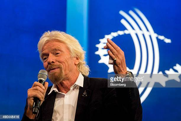 Richard Branson chairman and founder of Virgin Group Ltd speaks during the annual meeting of the Clinton Global Initiative in New York US on Monday...