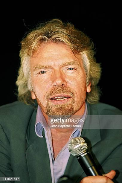Richard Branson during Midem 2002 Richard Branson Billy Crawford PhotoShot at Palais des festivals in Cannes France