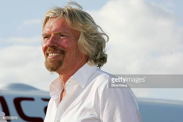 Richard Branson founder and chairman of Virgin Group Ltd speaks during an interview at the Fort LauderdaleHollywood International Airport in Fort...