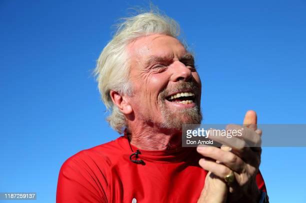Richard Branson poses at Bondi Beach on November 13, 2019 in Sydney, Australia.