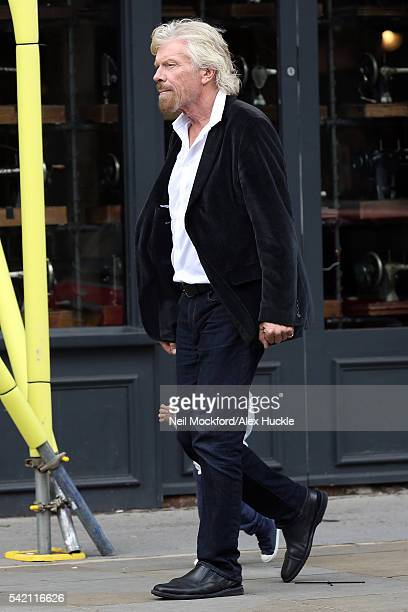 Richard Branson seen with his wife Joan and their grandchildren in Notting Hill on June 20 2016 in London England