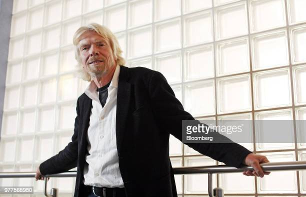 Richard Branson the founder of Virgin Group Ltd poses for a photograph at the Virgin Money headquarters in Gosforth near Newcastle UK on Monday Jan 9...