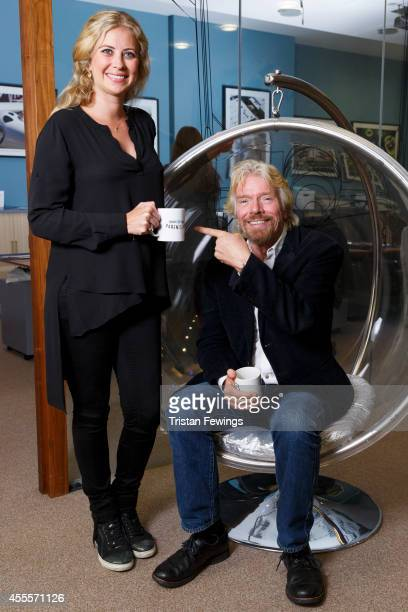 Richard Branson visits daughter Holly for a meeting at the Virgin Galactic office to celebrate the launch of this year's LinkedIn Bring In Your...