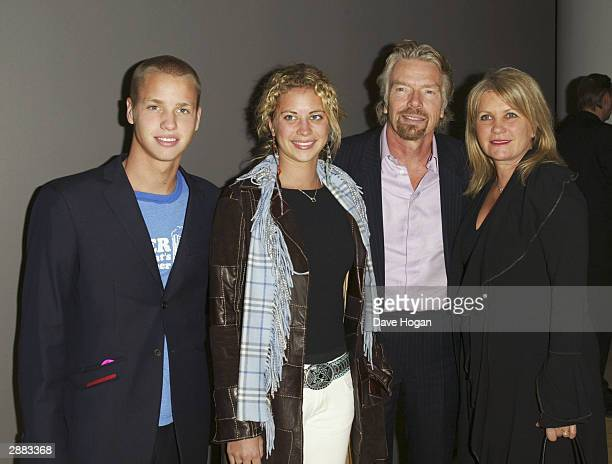 Richard Branson wife Joan Templeman and children arrive at the Afterparty for the UK Premiere of Big Fish at the Martin's Lane Hotel on January 19...