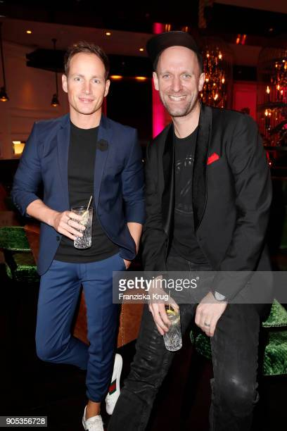 Richard Breitengraser and Daniel Termann during the Bunte New Faces Night at Grace Hotel Zoo on January 15 2018 in Berlin Germany