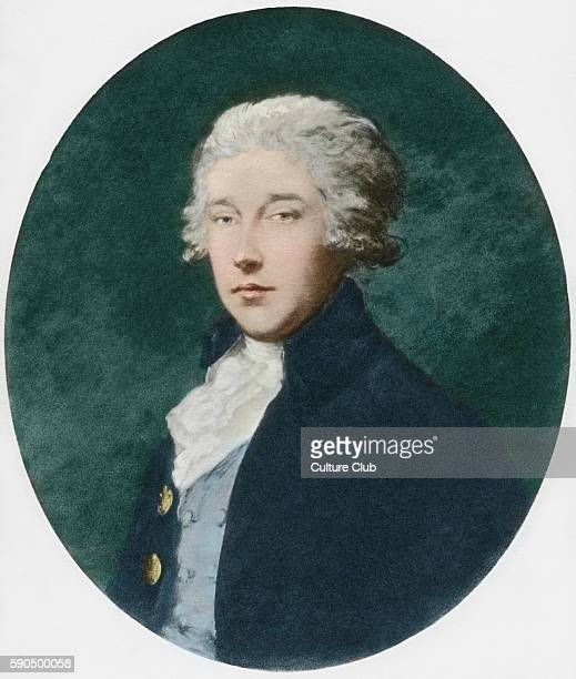 Richard Brinsley Sheridan, portrait. Irish poet and playwright, owner of the Theatre Royal, Drury Lane, London, 30 October 1751 Ð 7 July 1816. After...