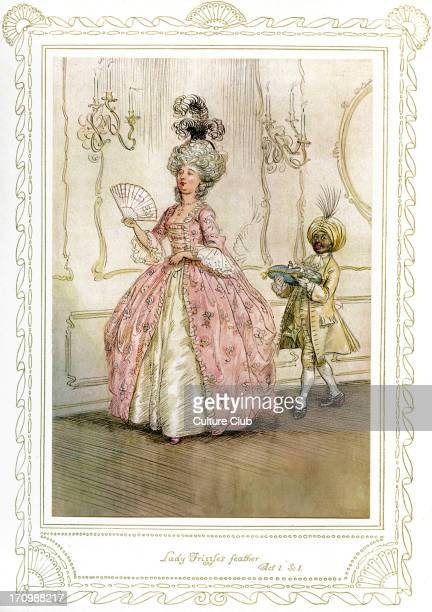 Richard Brinsley Sheridan's play Richard Brinsley Sheridan's play 'The School for Scandal' Act 1 Scene 1 'Lady Frizzle's feather' Illustrated by Hugh...