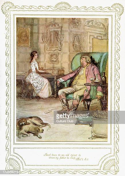 Richard Brinsley Sheridan's play Richard Brinsley Sheridan's play 'The School for Scandal' Act 2 Scene 1 'Stuck down to an old spinet to strum my...