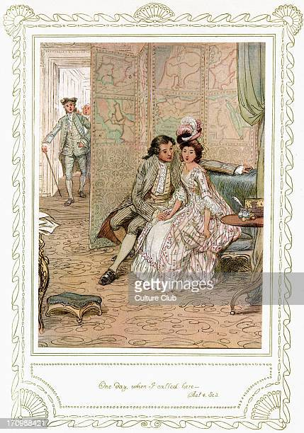 Richard Brinsley Sheridan's play Richard Brinsley Sheridan's play 'The School for Scandal' Act 4 Scene 3 'One day When I called here ' Illustrated by...