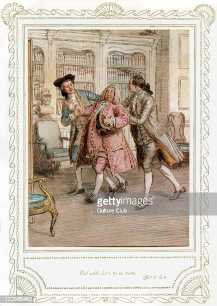 Richard Brinsley Sheridan's play Richard Brinsley Sheridan's play 'The School for Scandal' Act 5 Scene 3 'Out with him to be sure' Illustrated by...