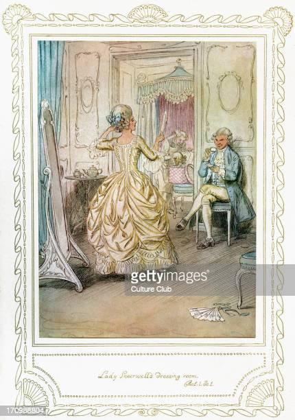 Richard Brinsley Sheridan's play Richard Brinsley Sheridan's play 'The School for Scandal' Act 1 Scene 1 'Lady Sneerwell's dressing room' Illustrated...