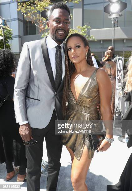 Richard Brooks and Amy Dubois Barnett attend the 2018 BET Awards at Microsoft Theater on June 24 2018 in Los Angeles California