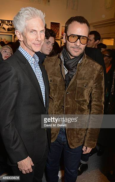 Richard Buckley and Tom Ford attend the book launch and private view of Mary McCartney Monochrome And Colour curated by De Pury De Pury on November...