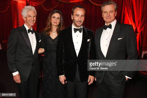 RIchard Buckley Livia Firth Tom Ford and Colin Firth attend the BAFTA 2017 Film Gala Dinner at BAFTA Piccadilly on February 9 2017 in London England