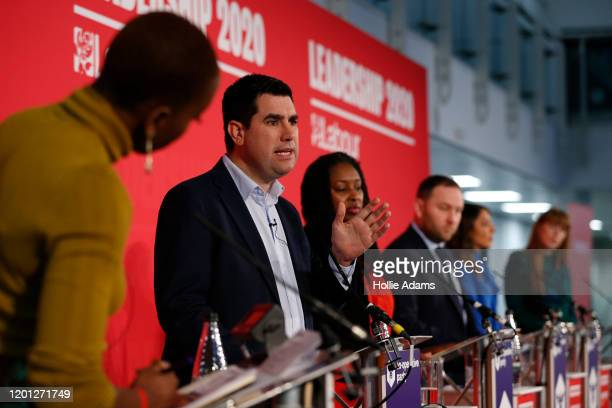 Richard Burgon Dawn Butler Ian Murray Dr Rosena AllinKhan and Angela Rayner speaking at a hustings event for Labour Leader and Deputy Leader hosted...