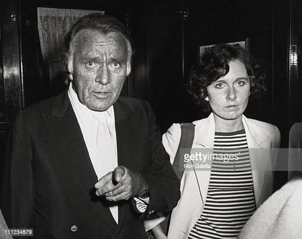 Richard Burton and Kate Burton during Dinner After a Performance of Noel Coward's 'Present Laughter' at Sardi's Restaurant in New York City New York...