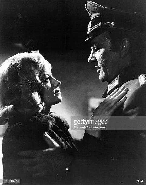 Richard Burton and Mary Ure gazing into one an others eyes with passion in a scene from the film 'Where Eagles Dare' 1968