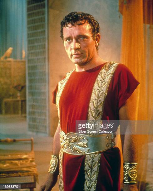 Richard Burton , British actor, British actor, in costume in a publicity still issued for the film, 'Cleopatra', 1963. The historical drama, directed...
