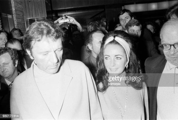 Richard Burton & Elizabeth Taylor, arrive for Liz Taylor's 40th Birthday Party, to be held at the International Hotel, Budapest, Hungary, Sunday 27th...