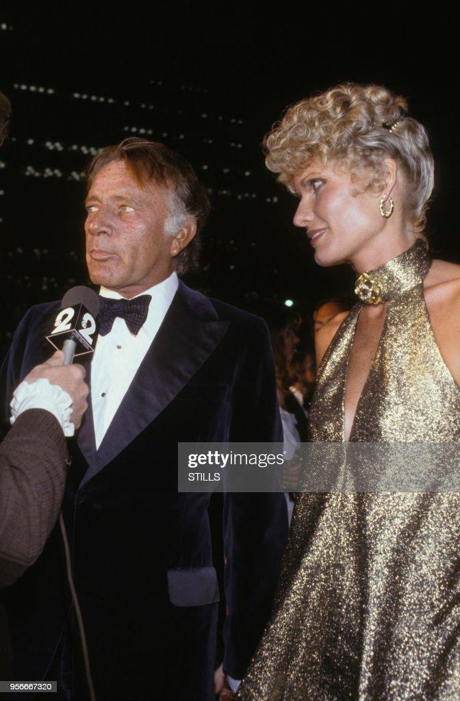 Richard Burton Et Sa Femme Suzy Miller à Los Angeles Dans Les Années