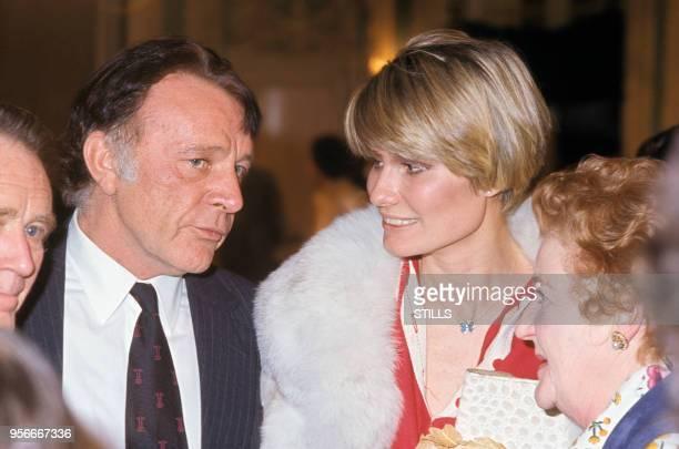 Richard Burton et sa femme Suzy Miller à Paris dans les années 70 Circa 1970