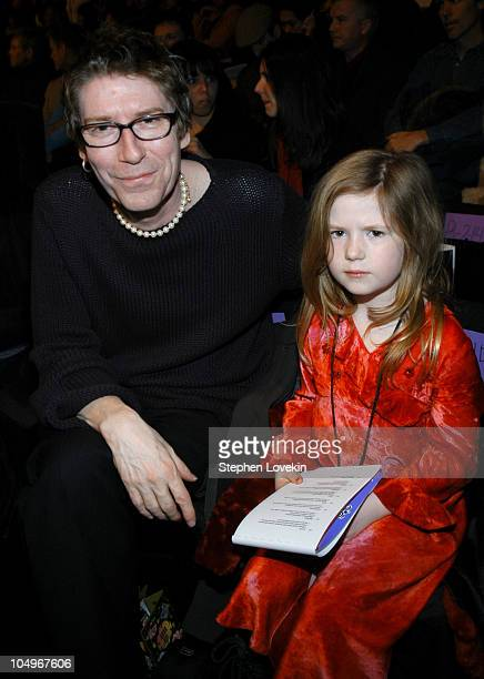 Richard Butler and daughter Maggie during Olympus Fashion Week Fall 2004 Anna Sui Front Row and Runway at The Tent at Bryant Park in New York City...