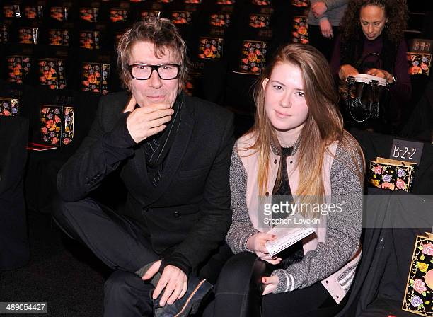 Richard Butler and Maggie Mozart Butler attend the Anna Sui fashion show during MercedesBenz Fashion Week Fall 2014 at The Theatre at Lincoln Center...
