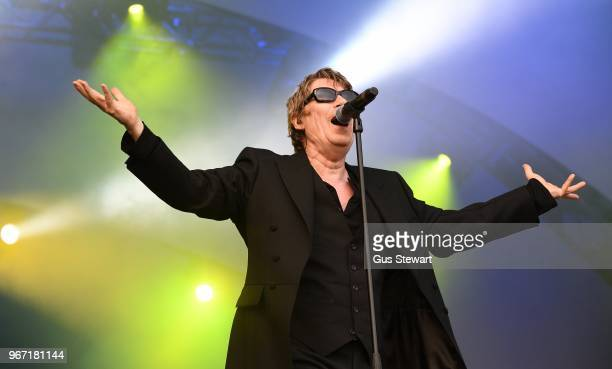 Richard Butler of Psychedelic Furs performs on stage at All Points East in Victoria Park on June 3 2018 in London England