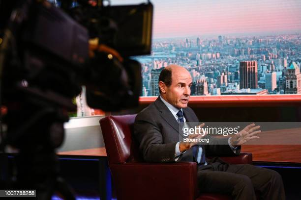 Richard Byrne president of Benefit Street Partners LLC speaks during a Bloomberg Television interview in New York US on Friday July 20 2018 Byrne...