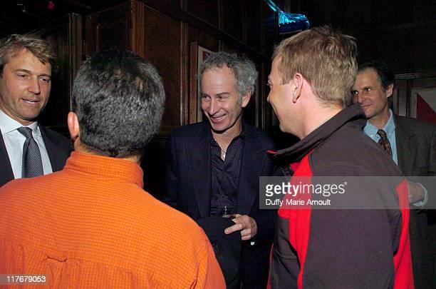 Richard C Wiese president of the Explorer's Club Lonnie Dupre John McEnroe and Eric Larsen
