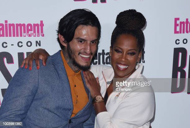 Richard Cabral and Regina King attend the annual Entertainment Weekly ComicCon Celebration at Float at Hard Rock Hotel San Diego on July 21 2018 in...