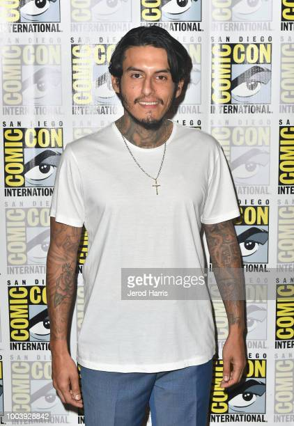 Richard Cabral attends FX's Mayans MC press line during ComicCon International 2018 at Hilton Bayfront on July 22 2018 in San Diego California