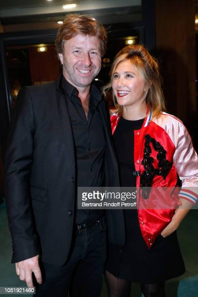 Richard Caillat and Berengere Krief attend Le Banquet Theater play at Theatre du RondPoint on October 11 2018 in Paris France