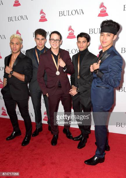 Richard Camacho, Zabdiel De Jesus, Christopher Velez, Erick Colon and Joel Pimentel of CNCO attend the 2017 Person of the Year Gala honoring...
