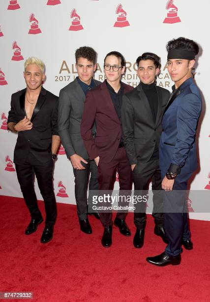 Richard Camacho, Zabdiel De Jesus, Christopher Velez, Erick Colon, and Joel Pimentel of CNCO attend the 2017 Person of the Year Gala honoring...