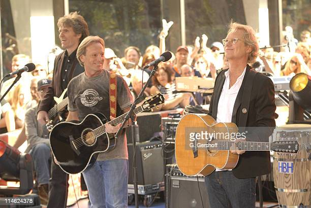 Richard Campbell Dewey Bunnell and Gerry Beckley of America perform on NBC's 'Today' Show