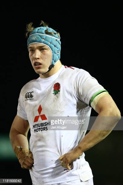 Richard Capstick of England during the Wales U20 v England U20 match in the Under 20 Six Nations Championships at ZipWorld Stadium on February 22...