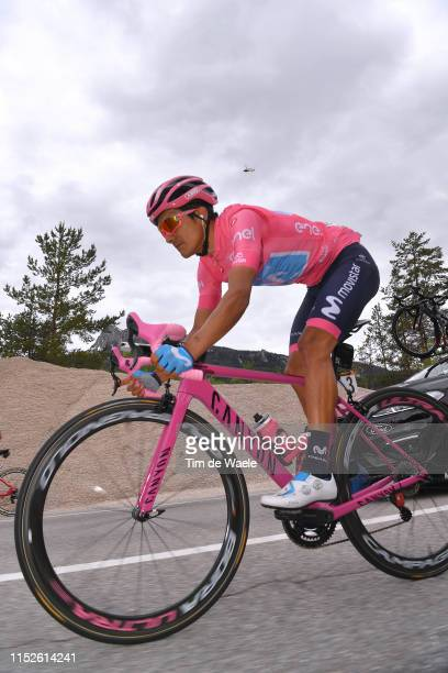 Richard Carapaz of Ecuador and Movistar Team Pink Leader Jersey / during the 102nd Giro d'Italia 2019, Stage 18 a 222km stage from Valdaora to Santa...